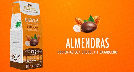 Imagen miniatura de Almendras cubiertas con Chocolate oaxaqueño Texier
