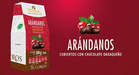 Imagen miniatura de Arándanos cubiertos con Chocolate oaxaqueño Texier