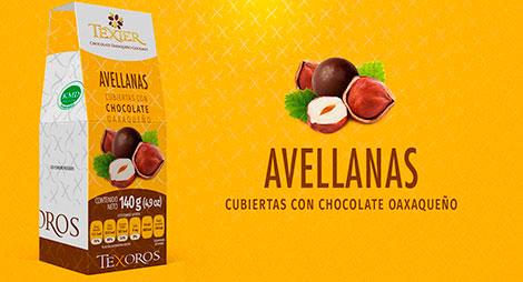 Imagen miniatura de Avellanas cubiertas con Chocolate oaxaqueño Texier