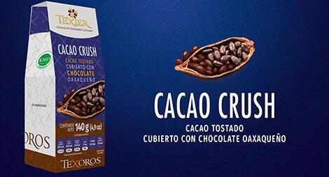 Imagen miniatura de Cacao tostado cubierto con Chocolate oaxaqueño Texier