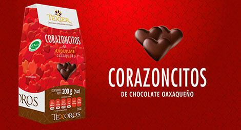 Imagen miniatura de corazoncitos de Chocolate oaxaqueño Texier