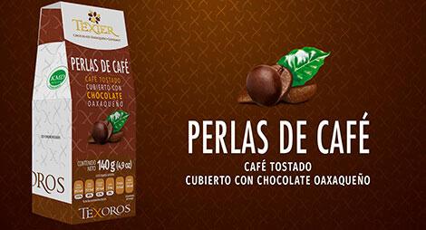 Imagen miniatura de Perlas de café tostado cubiertas con Chocolate oaxaqueño Texier