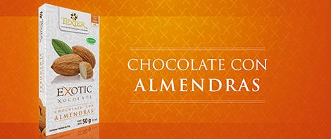 Imagen de Exotic Tablets Chocolate con Almendras Texier