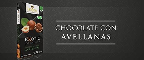 Imagen de Exotic Tablets Chocolate con Avellanas Texier