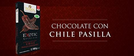 Imagen de Exotic Tablets Chocolate con Chile Pasilla Texier