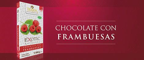 Imagen de Exotic Tablets Chocolate con Frambuesas Texier