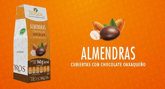 Almendras cubiertas con Chocolate Gourmet de Oaxaca Texier